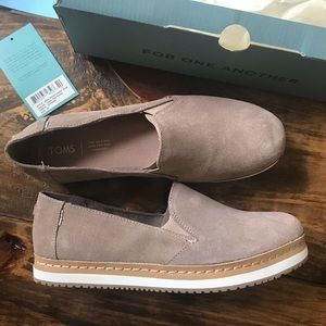 Toms Taupe Gray Suede Womens Palma Wrap